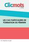 Clicmots3 cas particuliers formation feminin